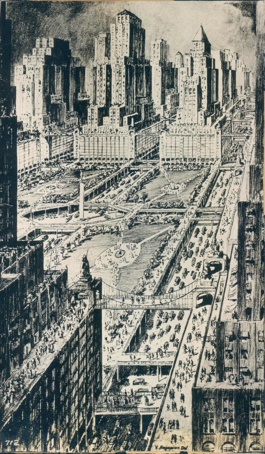 New York of the future in 1950 as imagined in 1939