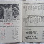 1973 Yankees program listing broadcasters / pitching rosters