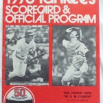 Yankees program 1973  Murcer & Munson on cover