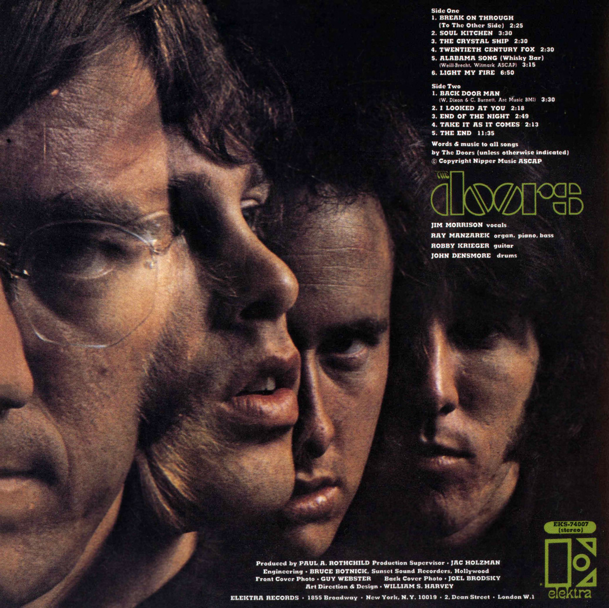 Outtake Photos Of The Doors Eponymous 1967 Album Cover  Outtake Photos ...