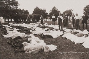 Bodies of General Slocum victims on North Brother Island