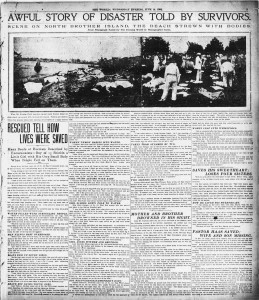 The Evening World Slocum Survivors tell their stories- June 15 1904 (click to enlarge)