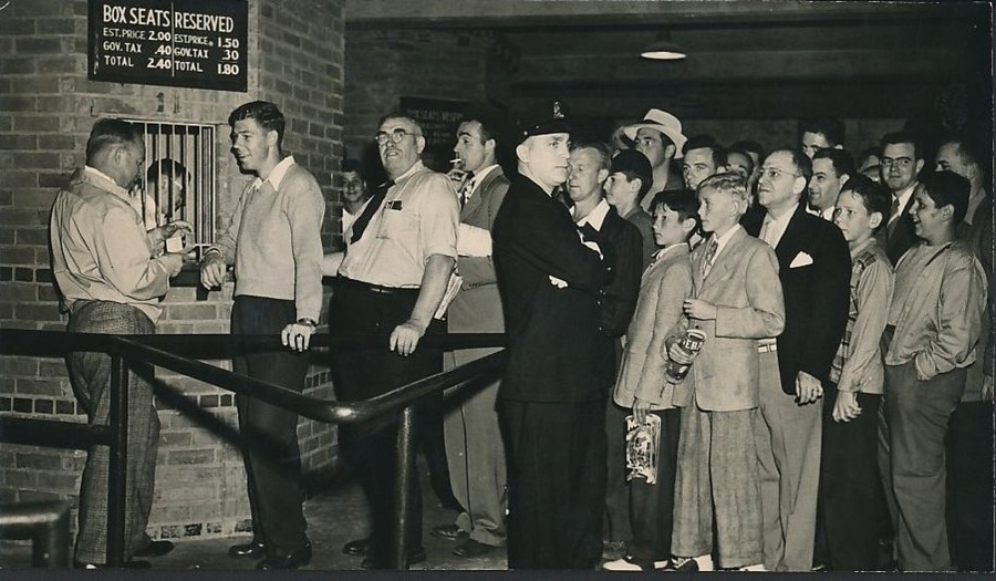Fenway Park ticket booth before the 1946 All Star Game