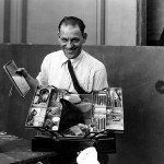 Lon Chaney and his makeup kit