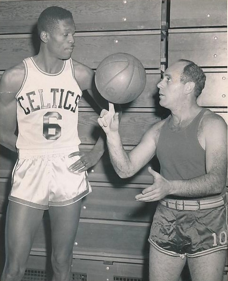 Red Auerbach Bill Russell Jan 12 1957