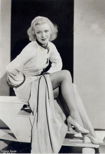 Ginger Rogers and those famous legs. Ginger received a $124,770 salary in 1937.
