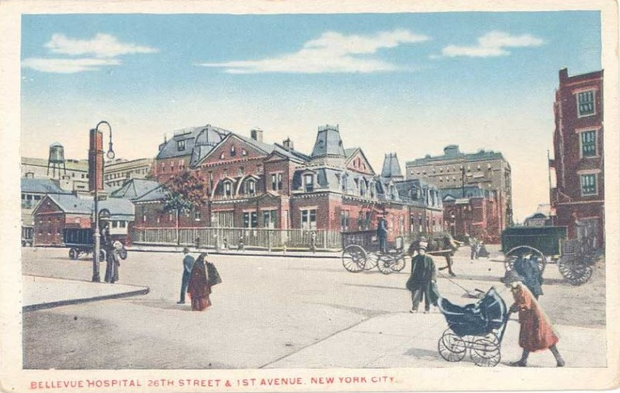 1st Ave. 26th Bellevue Hospital postcard circa 1912