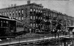 9th Avenue Elevated cleaning up wreckage looking south photo New York Tribune