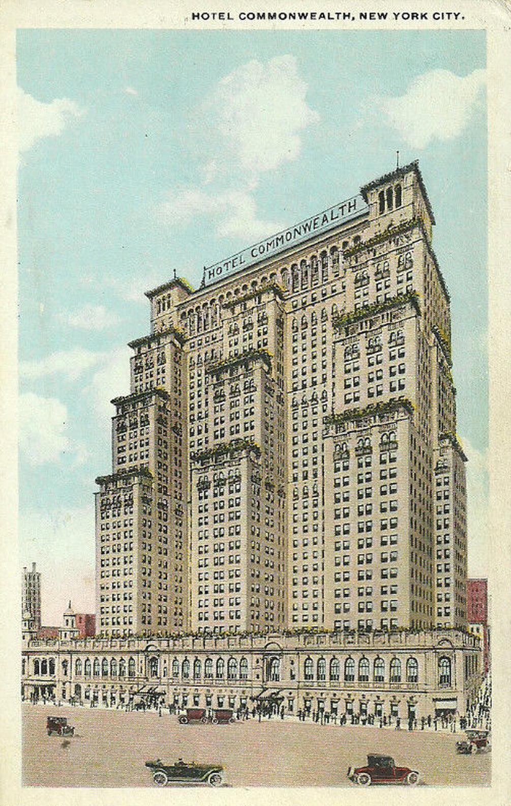 In 1918 New York's Hotel Commonwealth Was Going To Be The Largest In The World