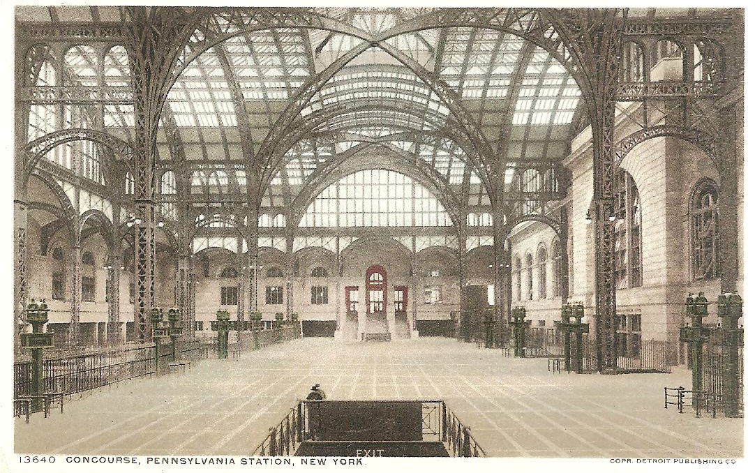 Old New York in Postcards #9 – Postcard Views Of The Interior Of Old Penn Station