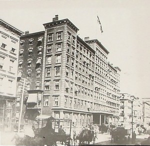 Windsor Hotel 5th ave 46th 47th street magic lantern slide B.P collection