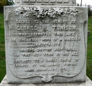 Green wood George Tunison epitaph 1160124