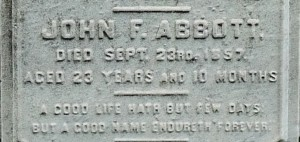 Green wood John F Abbott epitaph 1100936