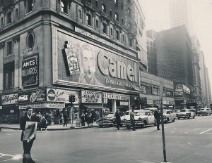 Times Square Camel billboard sign Broadway 47th St 10 11 1955 photo International News