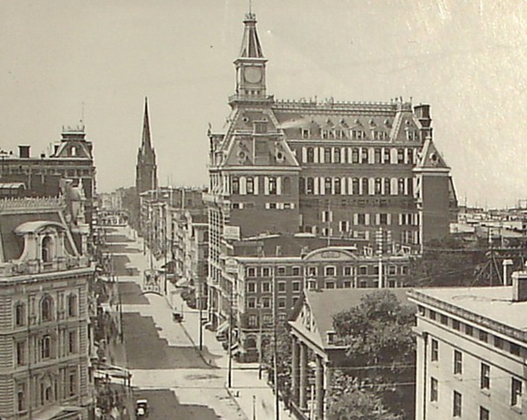 Broadway looking south Western Union Building 1880