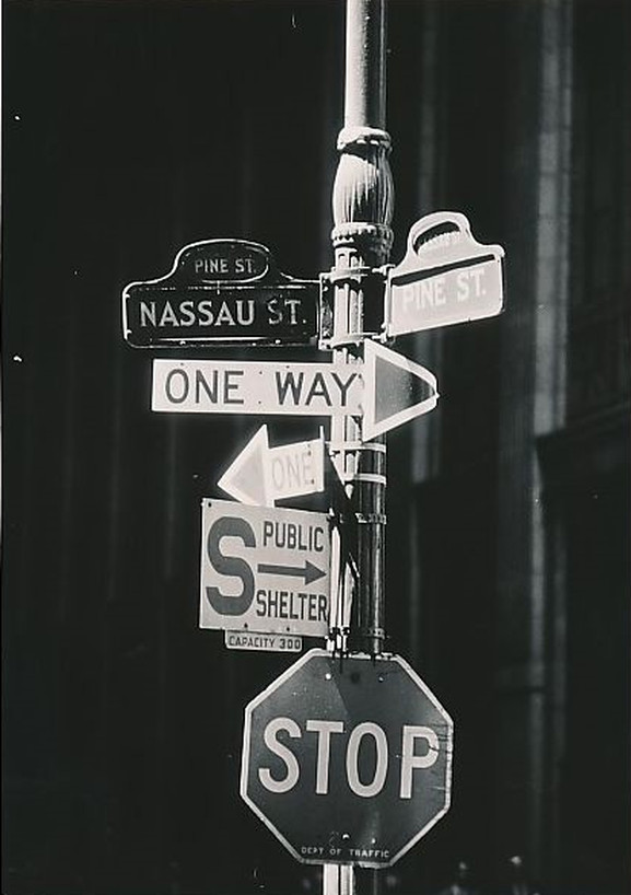 Street Signs New York City - 1962
