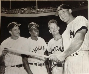 Bill Skowron, Minnie Minoso Nellie Fox and Mickey Mantle July 24 1957 photo: AP