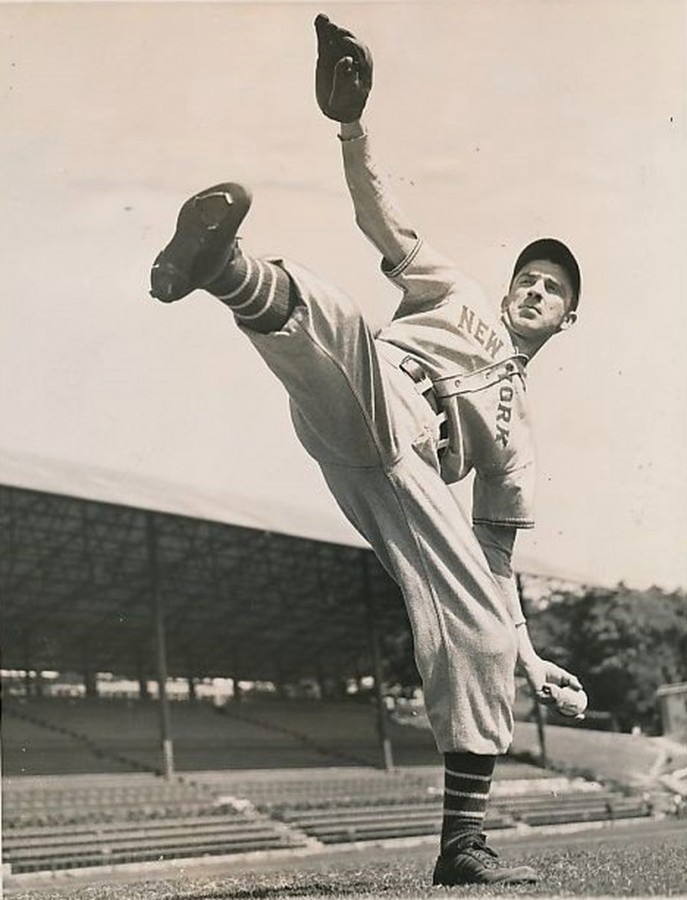 Carl Hubbell winding up in Havana Feb 20 1937