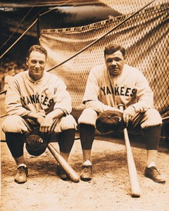 Gehrig and Ruth at League Park Cleveland 1927 photo L Van Oeyen