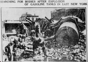 Oil Explosion Brooklyn Eagle photo searching for bodies