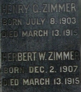 Zimmer inscription monument