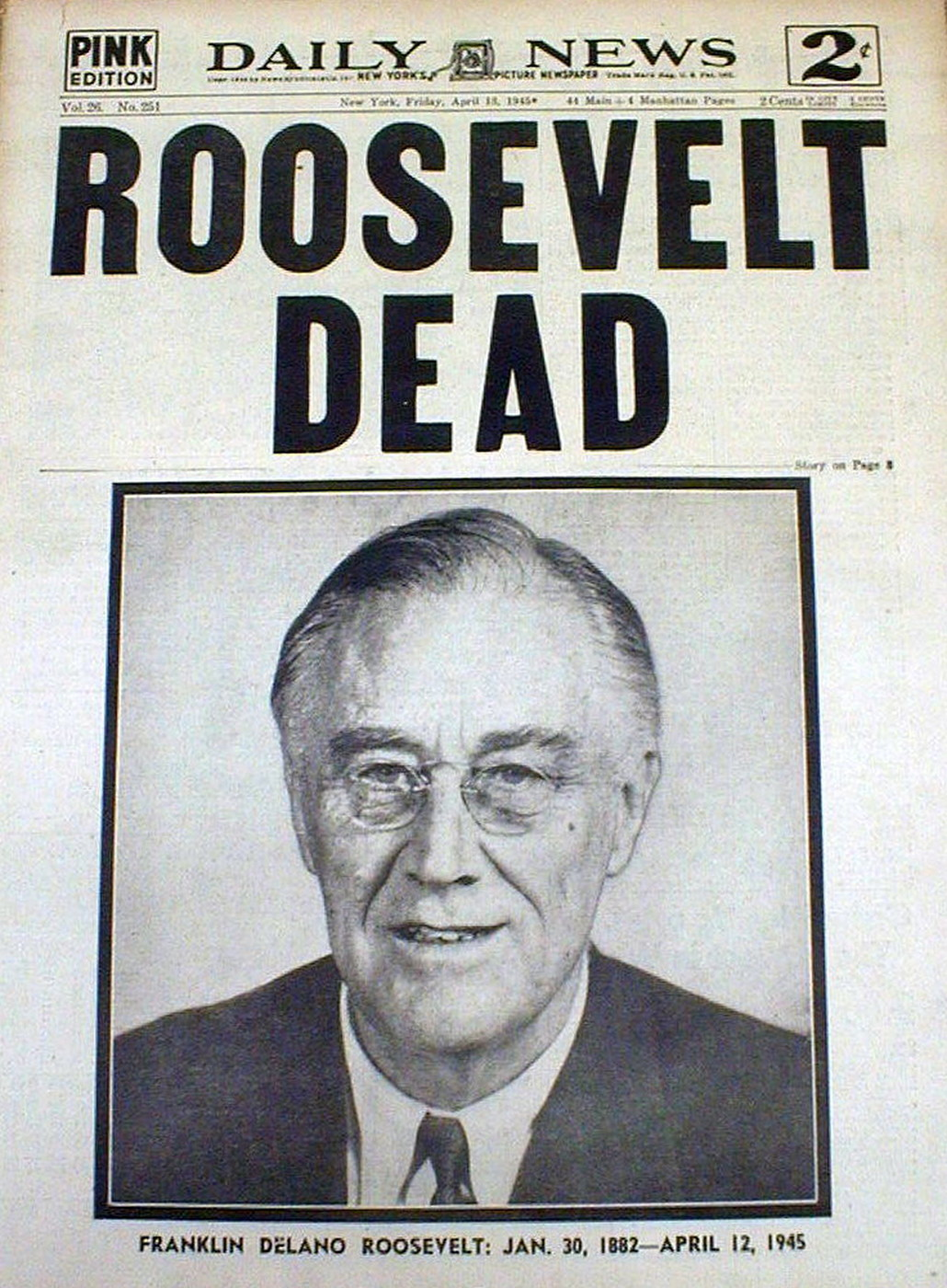 Image result for the death of president roosevelt