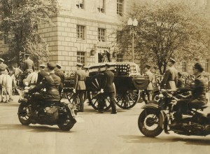 FDR's funeral procession in Washington D.C.