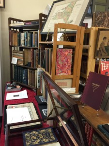 Display of fine books at the New York City Book and Ephemera Fair
