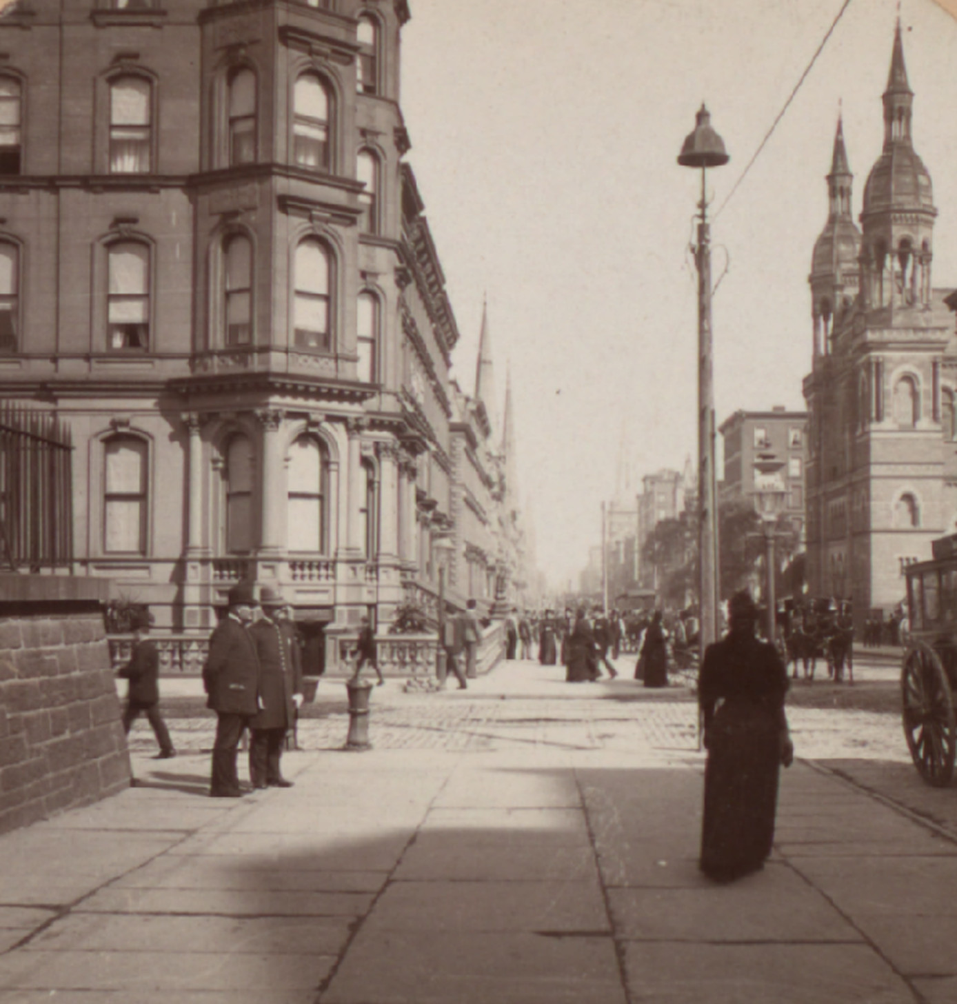 Old New York In Photos #50 - Fifth Ave. & 42nd St. c. 1897