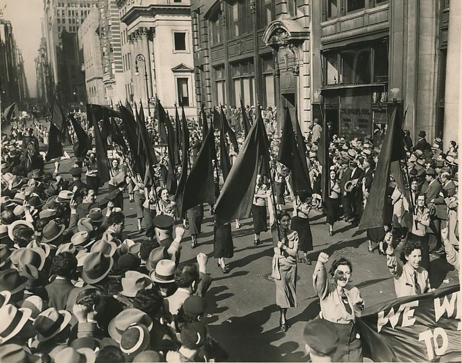 May day parade Madison Ave May 1 1934 photo AP