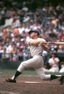 Mickey Mantle powerful swing photo Marvin Newman