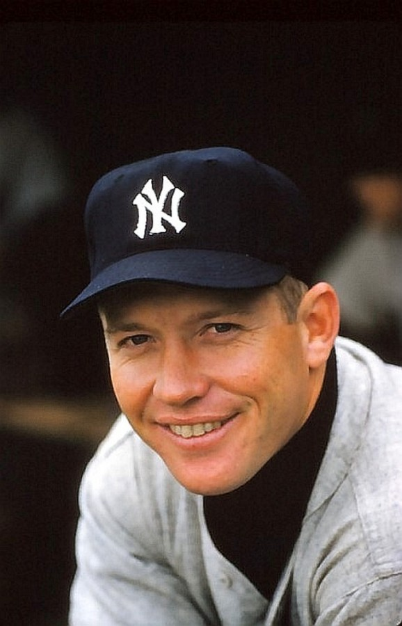 Mickey Mantle portrait 1956 photo Marvin Newman
