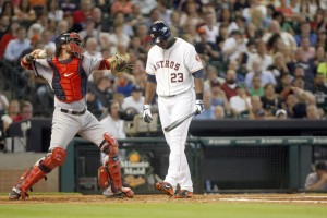 Chris Carter does what he does best: strikes out. photo: Houston Chronicle