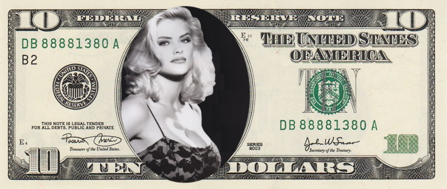 New 10 dollar bill Anna Nicole Smith