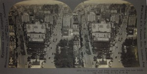 Stereoview Fifth Ave Broadway looking North from Flatiron Building