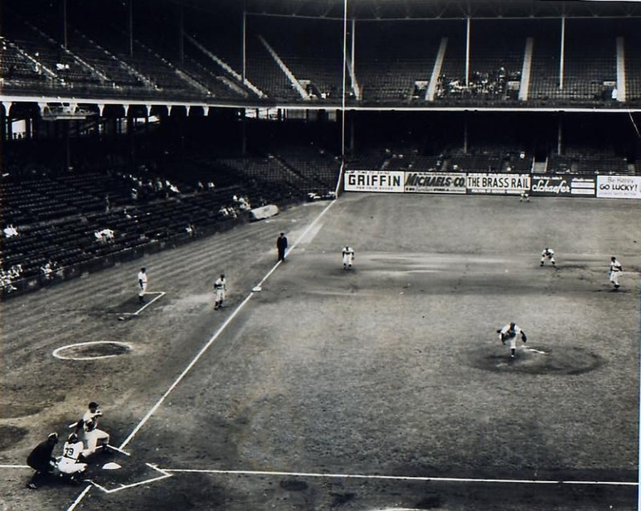 Ebbets Field Small Crowd 1951 9 15