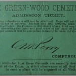 Green-Wood Cemetery admission ticket 1886