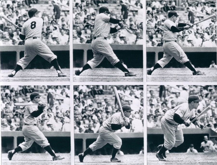 Yogi Berra Batting sequence 1955 9 6