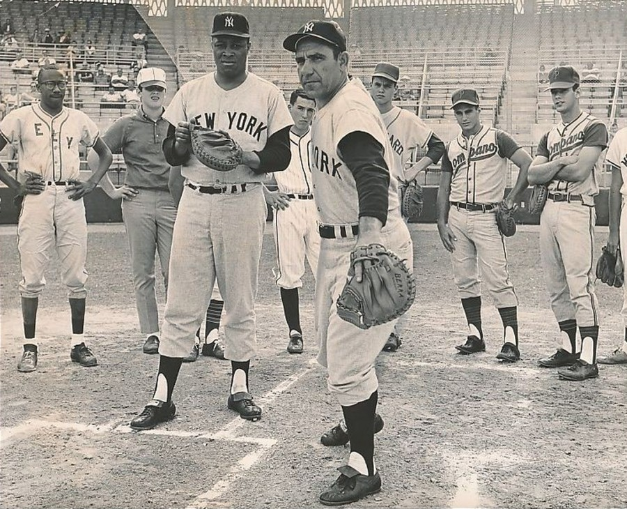 Yogi Berra Elston Howard 1963 2 26 photo John Walther Miami Herald