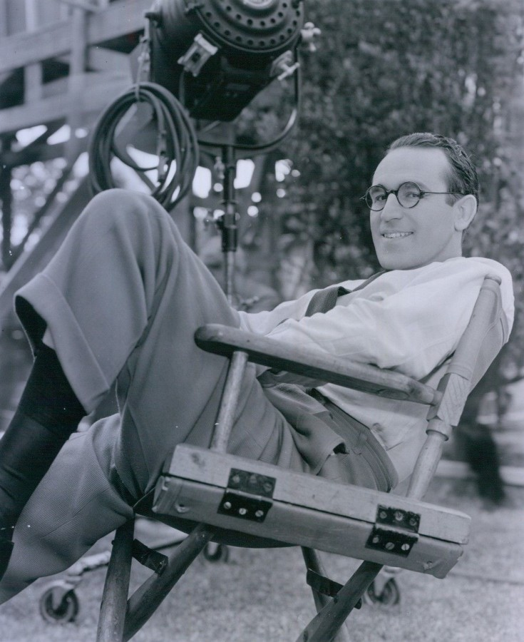 Harold Lloyd on set 1939