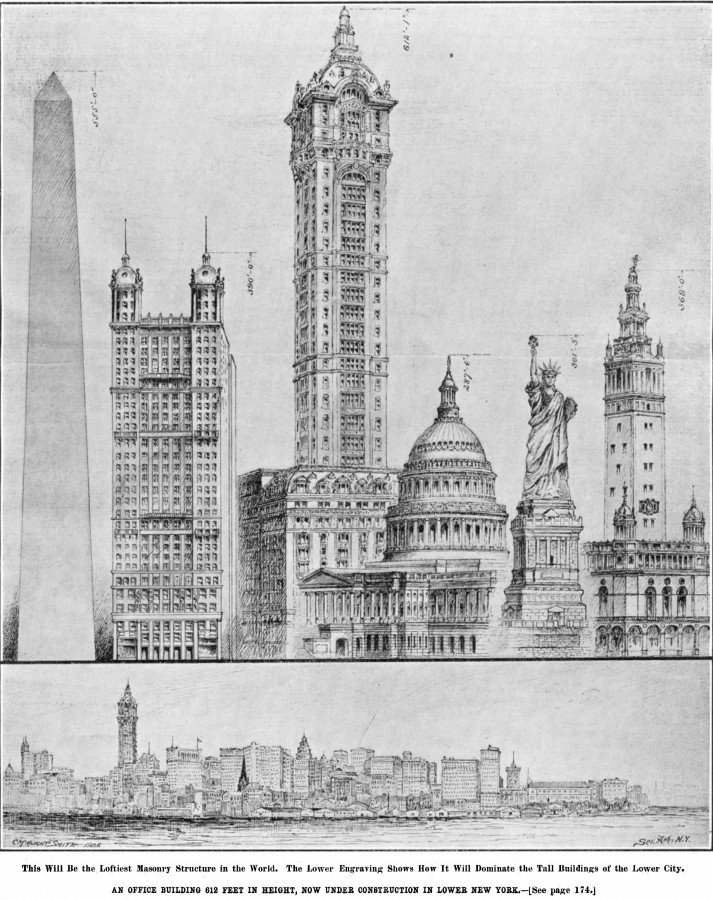 Singer Building 1906 Sept 8 scientific american