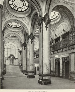 Interior Singer Building West End Main Corridor
