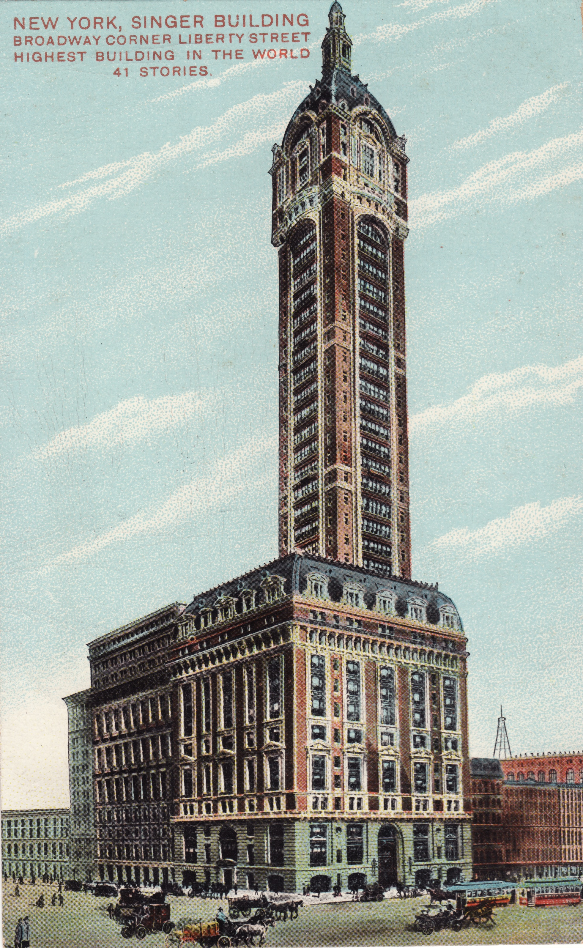 Color Of Woolworth Building New York