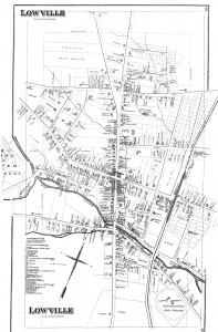 lowville new york map circa 1870s