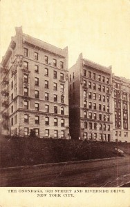 152nd Street Riverside Drive Onondaga Apartments postcard
