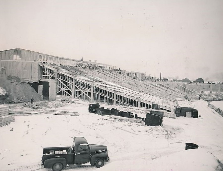 Construction of Metropolitan Stadium 12 22. 1955