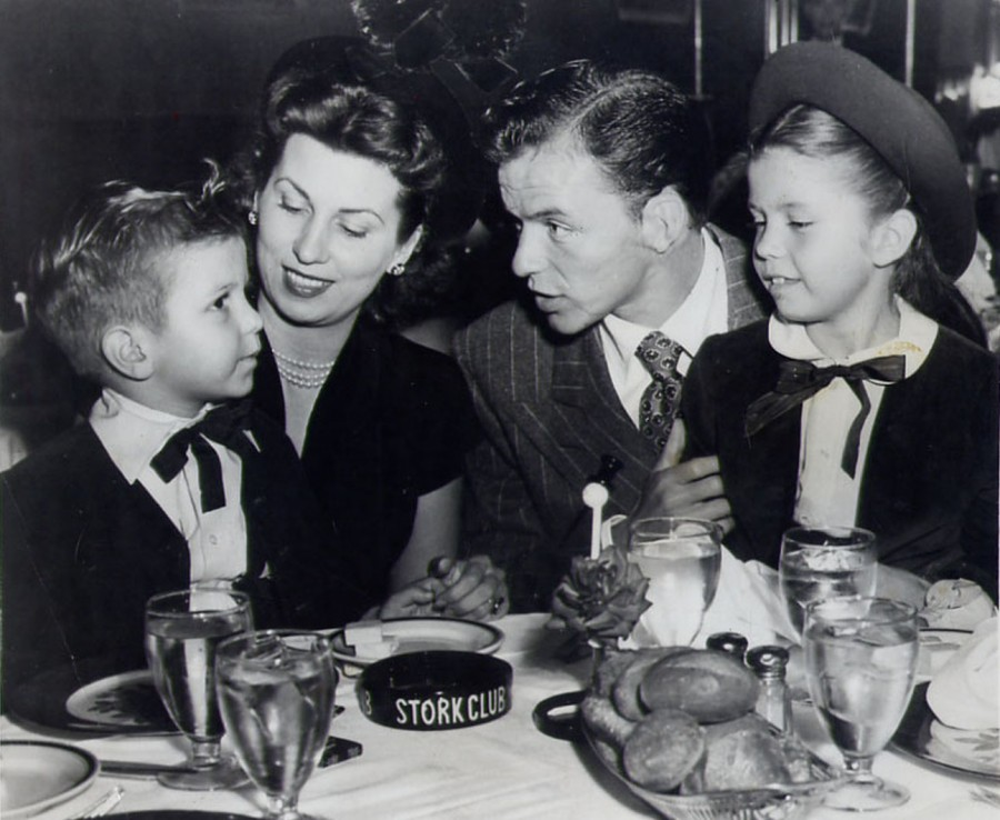 Frank Sinatra and Family at Stork Club 1947