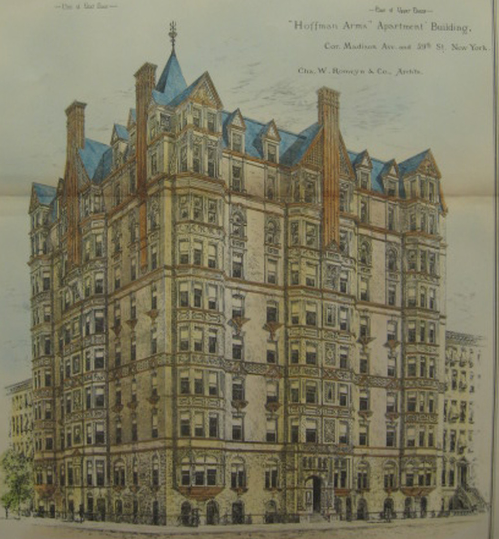 Hoffman Arms Apartments Madison Avenue 59th St 1885