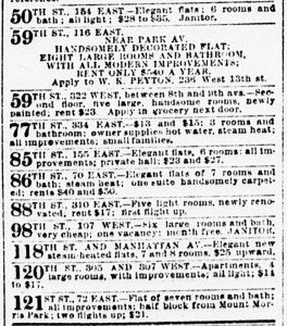 New York Sun housing ads Oct. 9, 1892
