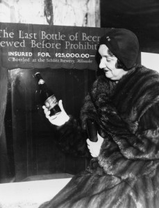 Rae Samuels holds the last bottle of beer